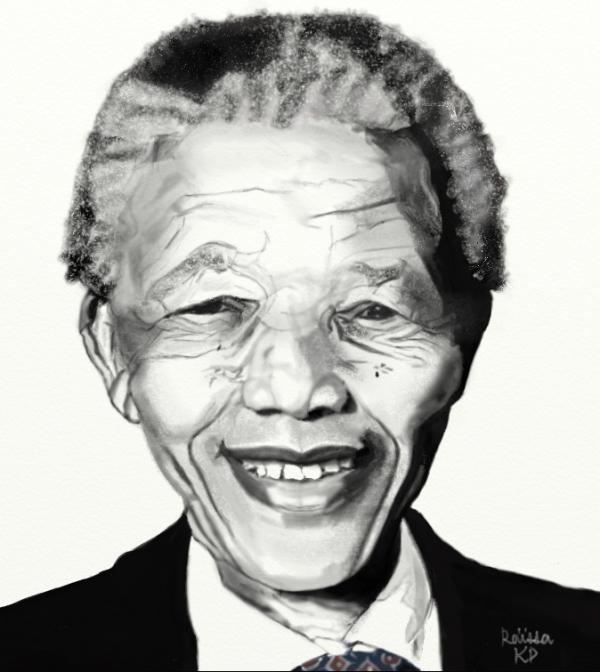 Nelson Mandela por RaissaKP